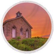 Round Beach Towel featuring the photograph Sunset Of 1882 by Darren White