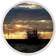 Round Beach Towel featuring the photograph Sunset On Chobe River by Betty-Anne McDonald