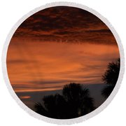 Sunset On The 4'th Round Beach Towel
