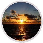 Sunset On The Atlantic Round Beach Towel