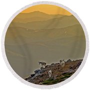 Round Beach Towel featuring the photograph Sunset On The Edge by Scott Mahon