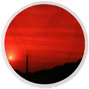 Sunset On The National Mall Washington Dc Round Beach Towel