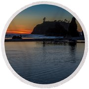Sunset On The Oregon Coast Round Beach Towel