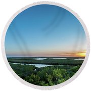 Sunset On The Outer Banks Round Beach Towel
