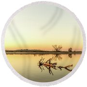 Sunset On The Tomoka River Round Beach Towel