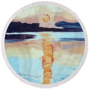 Sunset On Vancouver Island Round Beach Towel