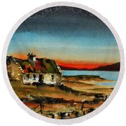 F 707 Inishfree Bay Near Ardra, Donegal.. Round Beach Towel