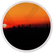 Sunset Over Atlanta Round Beach Towel