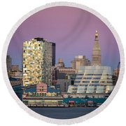 Round Beach Towel featuring the photograph Sunset Over Chelsea by Eduard Moldoveanu