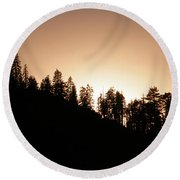 Sunset Over Glacier Point Round Beach Towel