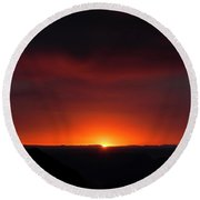 Sunset Over Grand Canyon Round Beach Towel