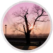 Round Beach Towel featuring the photograph Sunset Over Krakow by Juli Scalzi