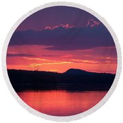 Sunset Over Sabao Round Beach Towel