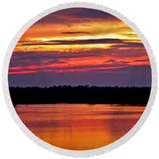 Sunset Over The Tomoka Round Beach Towel by DigiArt Diaries by Vicky B Fuller