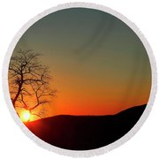 Sunset Over Virginia Round Beach Towel