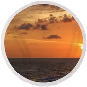 Sunset Panama City Florida Round Beach Towel
