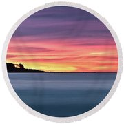 Round Beach Towel featuring the photograph Sunset Penisular, Bunker Bay by Dave Catley