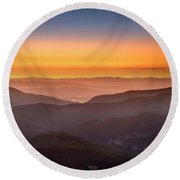 Sunset Point Round Beach Towel