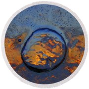 Round Beach Towel featuring the photograph Sunset Rings by Sami Tiainen