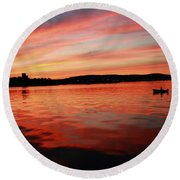 Sunset Row Round Beach Towel