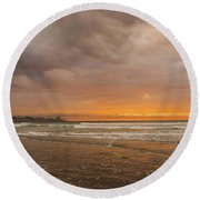Sunset Scripps Beach La Jolla Ca Round Beach Towel
