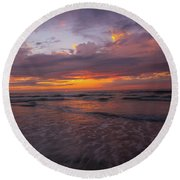 Sunset Scripps Beach Pier La Jolla Ca Img 2 Round Beach Towel