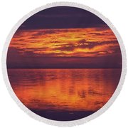 Sunset Sequim Round Beach Towel