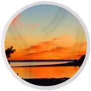 Sunset Serenity Round Beach Towel