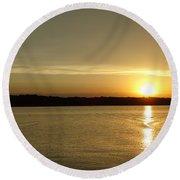Sunset Shelbyville Il Round Beach Towel