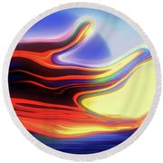 Sunset Sky Round Beach Towel