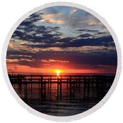 Sunset - South Carolina Round Beach Towel
