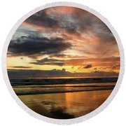 Sunset Split Round Beach Towel