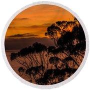 Sunset /torrey Pines Image 2 Round Beach Towel