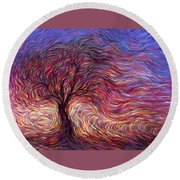 Sunset Tree Round Beach Towel by Hans Droog
