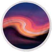 Sunset Twirl Round Beach Towel