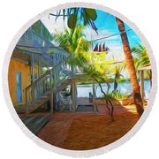 Sunset Villas Patio Round Beach Towel