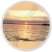 Sunset Water Round Beach Towel