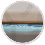 Sunset Waves Round Beach Towel by Anthony Fishburne