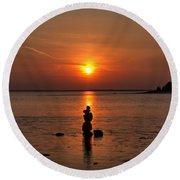 Sunset Zen Round Beach Towel