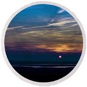 Sunset#3 Round Beach Towel