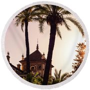 Sunsets Of Seville  Round Beach Towel