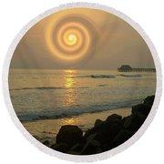 Sunsetswirl Round Beach Towel