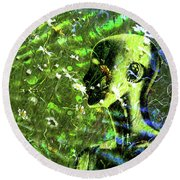Round Beach Towel featuring the photograph Sunshine And Daisies by LemonArt Photography