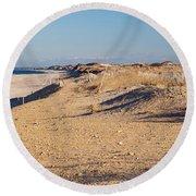 Sunshine And Sand Dunes Round Beach Towel