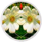 Sunshine On The Flowers Round Beach Towel