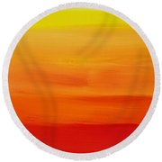 Sunshine Round Beach Towel