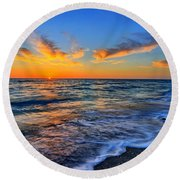 Round Beach Towel featuring the photograph Sunshine Skies by Scott Mahon
