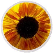 Sunshine Sunflower Round Beach Towel