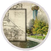 Sunsphere Mapped Round Beach Towel