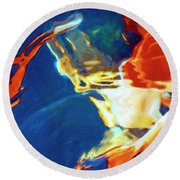 Round Beach Towel featuring the painting Sunspot by Dominic Piperata